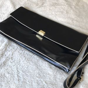 Zara Black and White oversized clutch